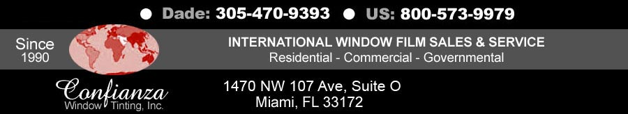 3M Prestige window film - Tinting Miami, International Service, Miami, FL